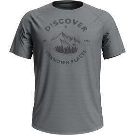 Odlo Concord T-Shirt S/S Crew Neck Men grey melange/discover print